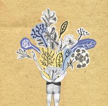"Postal: ""pensando en ti"" I. A Illustration, and Collage project by Violeta Cano         - 16.10.2017"