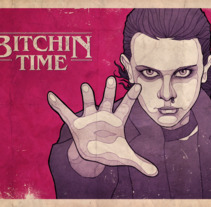 Stranger Things 2 poster - Bitchin. A Illustration, and Graphic Design project by Rubén Megido         - 18.11.2017