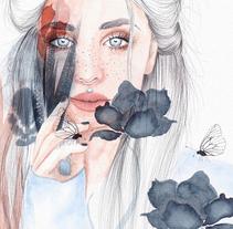 Mi Proyecto del curso: Retrato ilustrado en acuarela. A Illustration project by Annika Sylte  - 21-11-2017