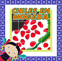 Chiles en Nogada . A Motion Graphics project by Carlos Alberto Rangel Hernandez         - 24.11.2017