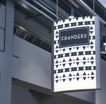 Restaurante Franders. Un proyecto de Diseño gráfico de Jon Ander Vázquez Merchán         - 26.08.2017