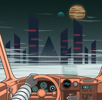 Retrowave art. A Design, Lettering, and Vector illustration project by Julio López         - 30.11.2017