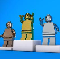 LEGO TROPHY. Un proyecto de Diseño, Ilustración, 3D, Animación y Diseño gráfico de Jose Roberto Monje Flores         - 30.11.2017