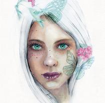 Mi Proyecto del curso: Retrato ilustrado en acuarela. A Illustration, Fine Art, Painting, and Digital retouching project by laura_nv - 02-12-2017