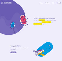 CraterLabs: Design illustrated web site for a new AI/ML Studio.. A Illustration, and Web Design project by Six Design         - 04.12.2017