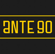 Ante 90 . A Graphic Design, Screen-printing, and Lettering project by Alex Quezada         - 13.12.2017