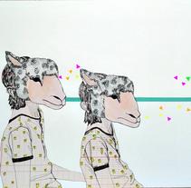 """""""El lobito bueno"""" mi primer proyecto de Ilustración, inspirado en el poema de J.A. Goytisolo. A Illustration project by Leticia Alonso - 14-12-2017"""