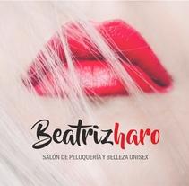 Logotipo Beatrizharo Salón de peluquería. Um projeto de Design e Direção de arte de Carmen Montiel Ramón         - 14.12.2017
