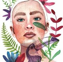 Meu projeto do curso: Retrato ilustrado en acuarela. A Illustration project by Pamela Gomes - 14-12-2017
