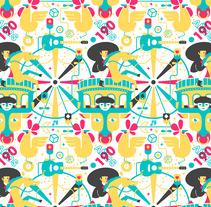 Mi Proyecto del curso: concurso de cartel para la Feria de San Marcos 2018.. Um projeto de Design, Diseño de patrones e Ilustración vectorial de Luis Herrera         - 29.12.2017