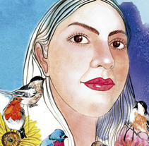 Mi Proyecto del curso: Retrato ilustrado en acuarela. Um projeto de Artes plásticas de Milagro Chuquiyanqui         - 03.01.2018