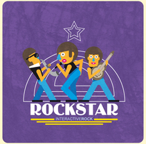 RockStar. A Illustration, and Graphic Design project by Sema García Diseño - 03-01-2018