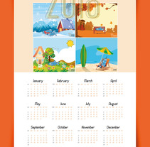Calendario 2018. A Illustration, Advertising, Character Design, Design Management, Editorial Design, Education, Graphic Design, and Vector illustration project by Soledad Manso González         - 04.01.2018