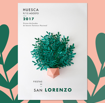 San Lorenzo - Craft Poster. A Illustration, Photograph, Art Direction, Crafts, Events, Graphic Design, and Paper craft project by Inés Marco Aguilar - 10-08-2017