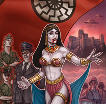 Diseño de novela «Fangs of the SS». A Illustration, and Editorial Design project by Rubén Megido         - 04.01.2018
