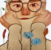 Mi Proyecto del curso: Retrato ilustrado en acuarela. A Illustration project by Fátima Expósito Ramírez - 19-01-2018
