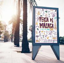 Propuesta cartel Feria de Málaga 2017. Un proyecto de Ilustración y Diseño gráfico de Marina Malmar         - 10.08.2017