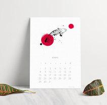 Calendario Koi 2018. Un proyecto de Diseño, Ilustración, Diseño editorial, Diseño gráfico, Diseño de la información, Diseño de producto, Retoque digital, Diseño de patrones e Ilustración vectorial de Daniela Nettle - 13-11-2018