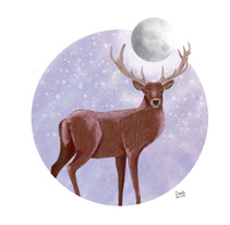 MOONLIGHT DEER. A Illustration project by Sofía          - 21.01.2018