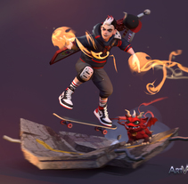 Teen Wizard Devil. A 3D, and Character Design project by gesiOH         - 24.01.2018