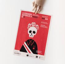 """Sr. Correcto. """"La verdadera historia de la muerte de FF"""". Um projeto de Design, Br, ing e Identidade e Design gráfico de Verbena          - 26.01.2018"""