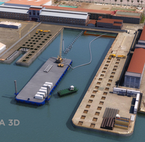 Syncrolift Muelle Cataluña. A 3D, Architecture&Infographics project by Daniel Briones Calleja         - 31.01.2018