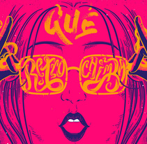 ¡¡Qué Retro Chimba!!. A Illustration, Lettering, and Vector illustration project by Tilo Desing         - 10.11.2017