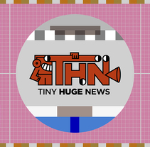 Tiny Huge News TV. A Animation, and Character animation project by Vení Studio  - 10-09-2017