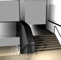 Modificación de pasamanos y escalera. Un proyecto de 3D y Diseño de interiores de Sara Caride Carrera         - 12.03.2016
