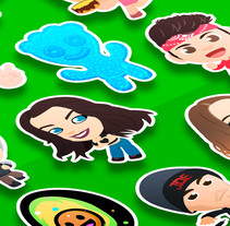 Kawaii Stickers for YouNow Vol. II. Um projeto de Design de personagens, Ilustración vectorial e   Diseño de iconos de Squid&Pig         - 12.02.2018