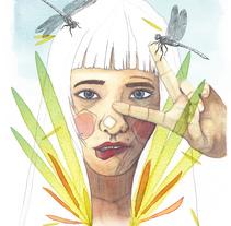 Mi Proyecto del curso: Retrato ilustrado en acuarela. A Illustration, Painting, and Digital retouching project by Clara Penín         - 14.02.2018