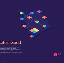 LG Billboard. Un proyecto de Diseño editorial, Diseño gráfico e Ilustración vectorial de Miguel Bucana         - 19.02.2018