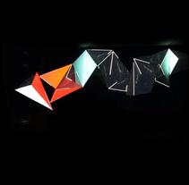 Visual Installation IZ2 at Insular Zone, Club Panams, Barcelona.. Um projeto de Instalações e Vídeo de Joan Martínez Gaixa         - 22.02.2018