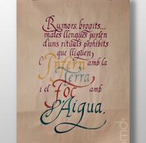 Cartel caligráfico. A Calligraph project by Berta Mayol Dotú         - 26.02.2018