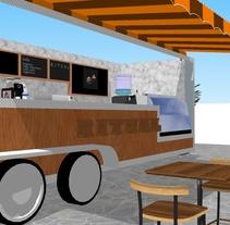 RITUAL Cafetería Food truck // Propuestas en 3D. Un proyecto de 3D de Camila Arancibia Manríquez         - 08.03.2018