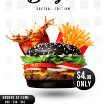 Black Burger. A Design, Cooking, and Graphic Design project by Sergis Ribeiro Da Silva         - 01.03.2018