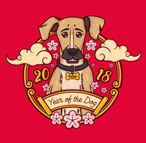 The year of the Dog. Um projeto de Ilustración vectorial de Diana Maria Cuevas         - 11.03.2018