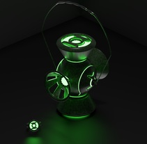 Green Lantern power lantern and ring . A 3D, and Animation project by javier alexander Muñiz Torrez         - 12.03.2018