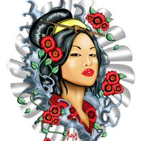 Geishas. Un proyecto de Ilustración de Mario del Río Alarcón         - 24.03.2018