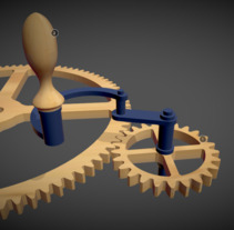 Gear Train. A 3D, and Animation project by generalista 3d         - 31.03.2018