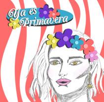 Mini cartel primavera. A Illustration, and Graphic Design project by Sara Cuenca Segovia         - 06.04.2018