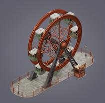 Circusmatic: Ferris wheel. Um projeto de Motion Graphics, 3D e Animação 3D de Jose Olmedo         - 26.04.2018